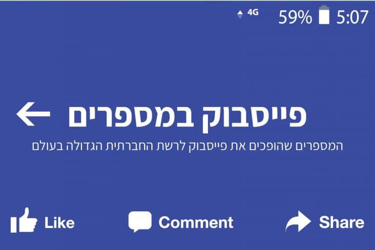 אינפוגרפיקה,אינפוגרפיקות, פייסבוק